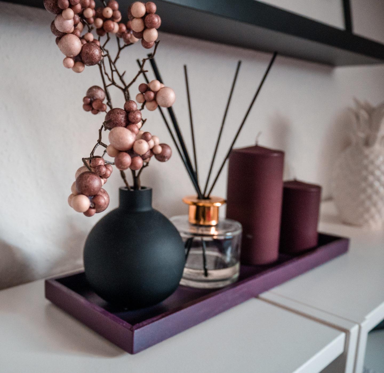 Berry Toned Bedroom